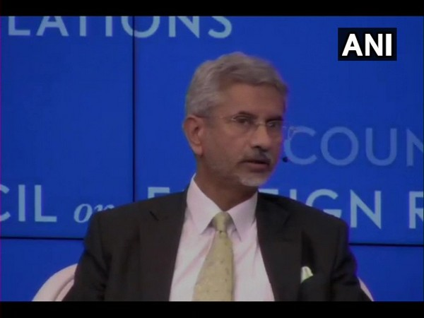 External Affairs Minister S Jaishankar at an interactive session in New York on Wednesday.