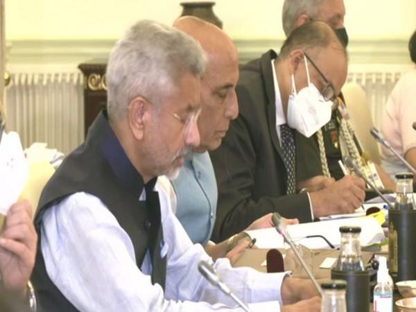 External Affairs Minister S Jaishankar speaking at 2+2 ministerial dialogue. (ANI)