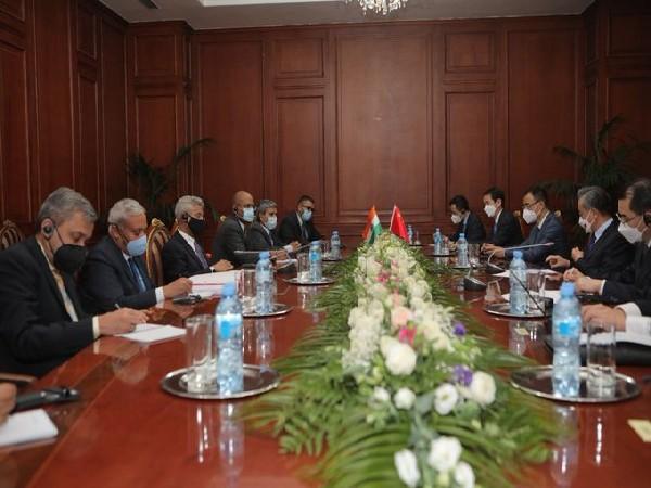 EAM Jaishankar with Chinese counterpart Wang Yi at SCO Summit.