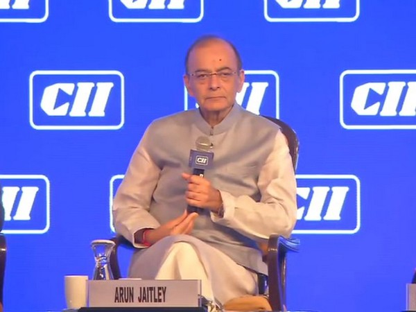 Finance Minister Arun Jaitley speaking at the CII annual conference in New Delhi on Thursday.