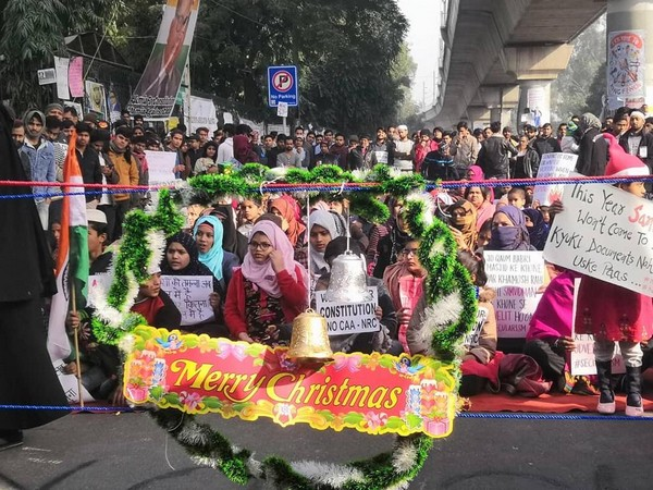 Students from Jamia University continued their protest over the issue of the Citizenship Amendment Act here on Wednesday