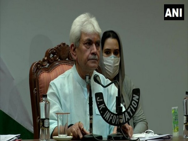 Lieutenant Governor of Jammu and Kashmir Manoj Sinha talking about the Business Revival Committee of Union Territory on Thursday.