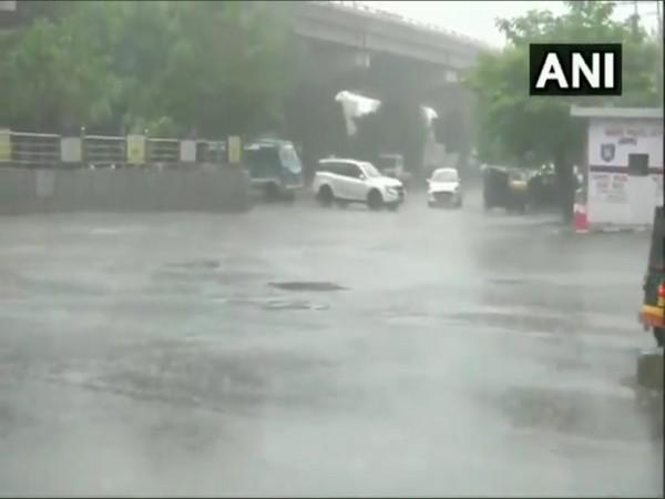 Heavy rain lashed Jammu city on Saturday.
