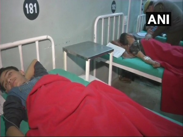 Visuals from a hospital where people injured in a grenade blast at a bus stand in Jammu undergoing treatment on Wednesday.