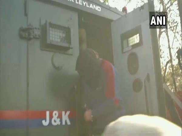 Visual from the NIA court, where Davinder Singh and 3 others were produced on Thursday. Photo/ANI