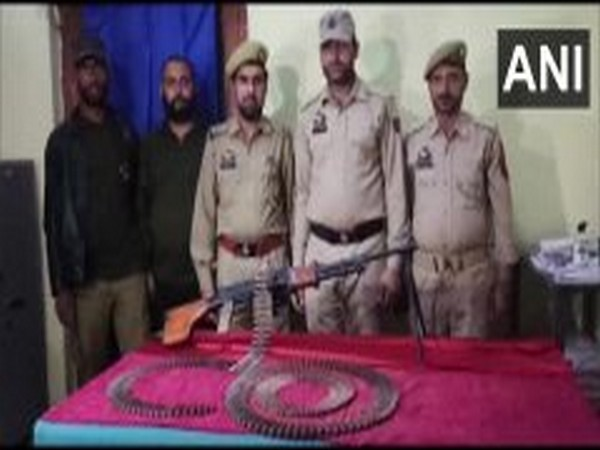 Arms and ammunition recovered from Surankote area of Poonch district on June 23. [Photo/ANI]