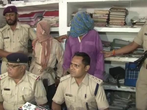Police addressing a press briefing on Wednesday on arrest of two persons in rape and murder of a three-year-old girl. Photo/ANI