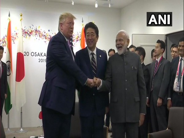 Prime Minister Narendra Modi meets United States President Donald Trump and Japanese Prime Minister Shinzo Abe in Osaka on Friday