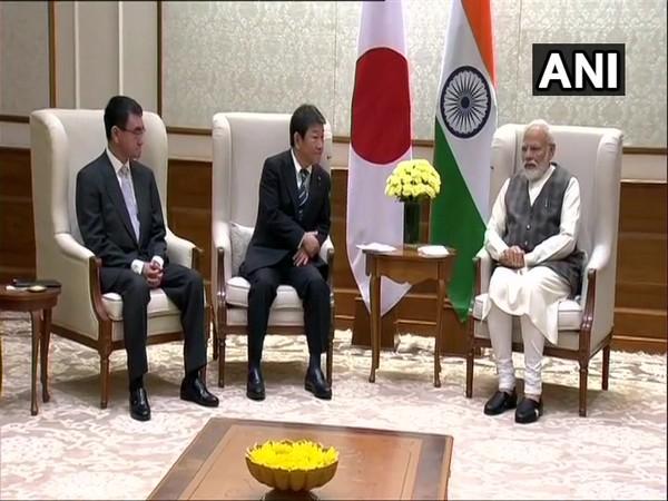 Prime Minister Narendra Modi meets Japanese Foreign Affairs Minister Toshimitsu Motegi and Japanese Defence Minister Taro Kono on Saturday