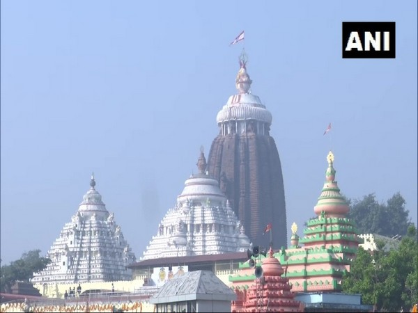 Jagannath Temple in Odisha's Puri. [Photo/ANI]