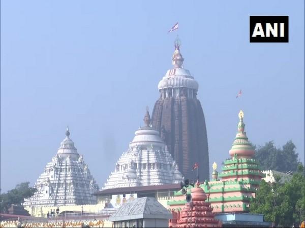 Jagannath Temple in Odisha's Puri. [Photo/ANI]