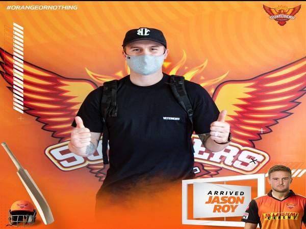SRH batsman Jason Roy (Photo/ SRH Twitter)