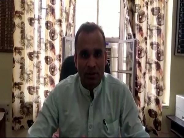 Deputy Superintendent of Police Jasveer Singh speaking to reporters.
