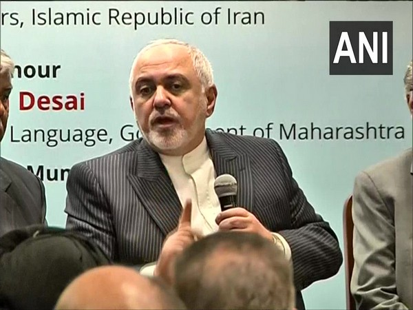 Iranian Foreign Minister Javad Zarif speaking to media in Mumbai on Friday