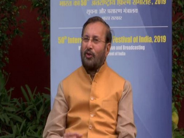 Union Environment and Climate Change Minister Prakash Javadekar addressing media persons in Delhi on Saturday. Photo/ANI