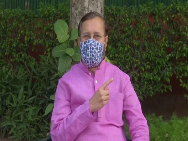 Union Minister Prakash Javadekar speaking in New Delhi on Thursday. Photo/ANI