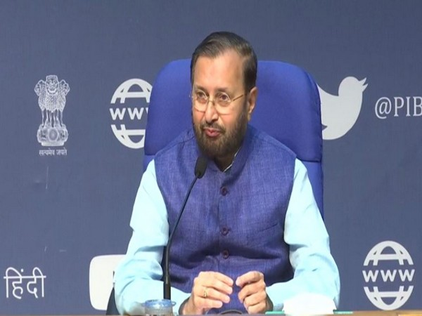 Union Minister Prakash Javadekar speaking at a press conference in New Delhi on Wednesday. Photo/ANI