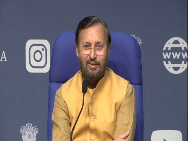 Union Minister Prakash Javadekar speaking at a press conference on Wednesday. Photo/ANI