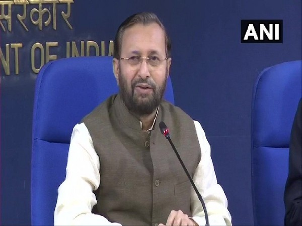 Union Minister Prakash Javadekar speaking to media persons after Cabinet meeting in New Delhi on July 17. Photo/ANI