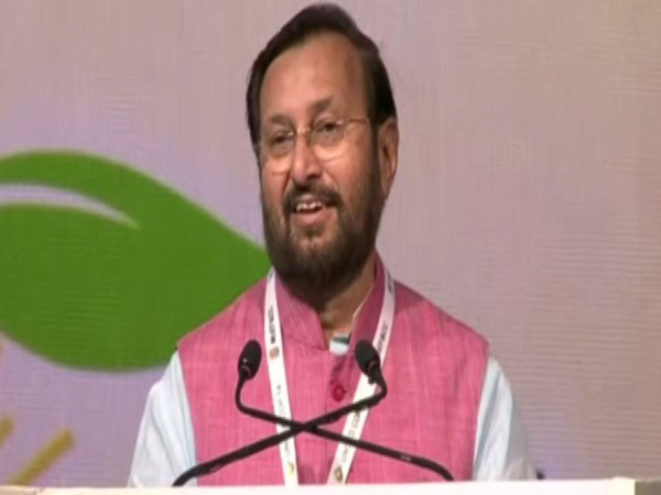 Union Minister addressing the 14th COP14 to UNCCD in Greater Noida. Photo/ANI
