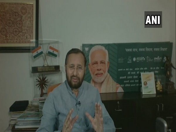 Union Environment Minister Prakash Javadekar during his interaction on Facebook Live on Sunday. Photo/ANI