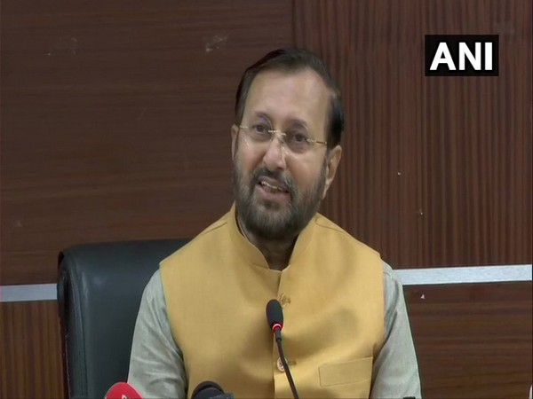 Union Minister Prakash Javadekar at a press conference in New Delhi on Monday. Photo/ANI