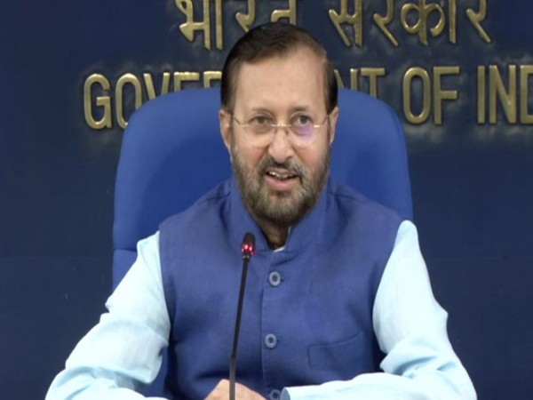 Union Minister Prakash Javadekar speaking to reporters after a cabinet meeting in New Delhi on Wednesday. (Photo/ANI)