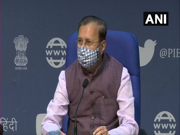 Information and Broadcasting Minister Prakash Javadekar during cabinet briefing in New Delhi on Wednesday. (Photo/ANI)
