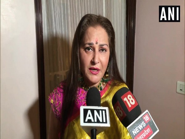 BJP leader Jaya Prada speaks to media reporters on Friday. Photo/ANI