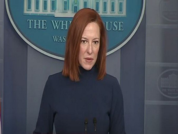 White House Press Secretary Jen Psaki speaking at a press briefing on Monday (local time)