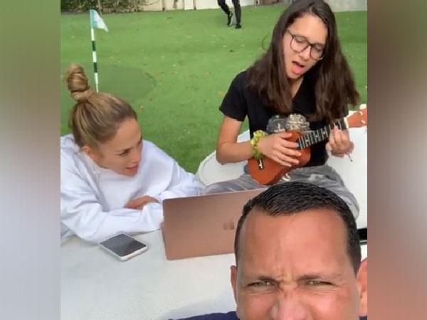 Jennifor Lopez with Alex Rodriguez and Natasha