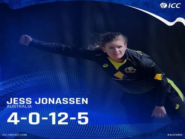 Australia's Jess Jonassen (Photo/ ICC Twitter)