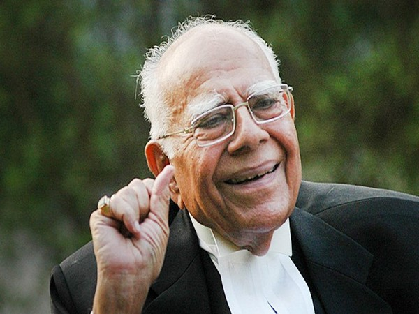 Noted lawyer Ram Jethmalani passed away at the age of 95 in New Delhi on Sunday. Photo/ANI