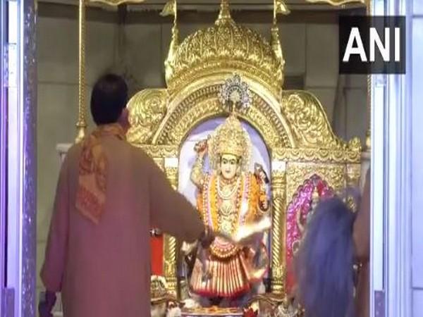 Visuals from Jhandewalan temple, New Delhi on Sunday. photo/ANI