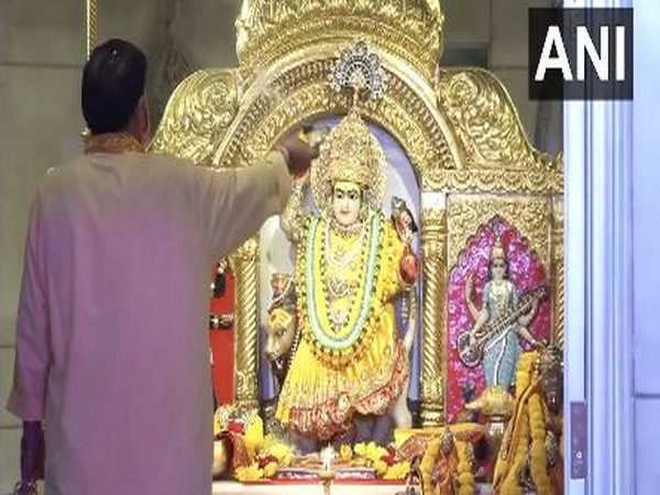 Visuals from Jhandewalan temple in New Delhi on Thursday. Photo/ANI