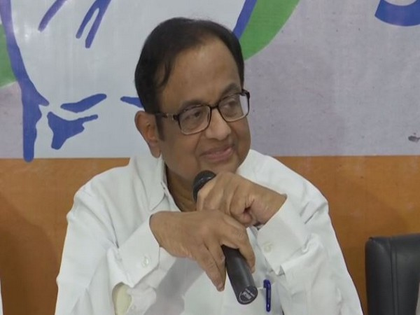 Congress leader P Chidambaram addressing a press conference in Ranchi, Jharkhand on Friday. Photo/ANI