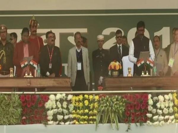 Hemant Soren on Sunday took oath as 11th CM of Jharkhand. Photo/ANI