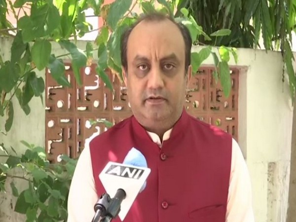 BJP leader Sudhanshu Trivedi talking to ANI on Thursday. [Photo/ANI]