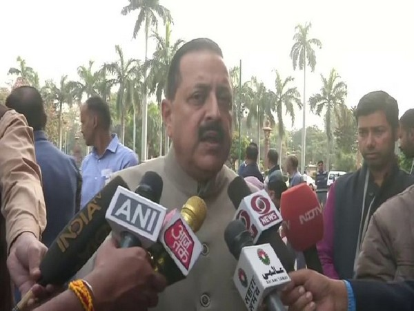 MoS Jitendra Singh speaking to reporters on Wednesday in New Delhi. Photo/ANI