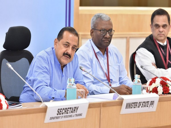 Union Minister Jitendra Singh speaking at annual conference of chief secretaries on Wednesday.