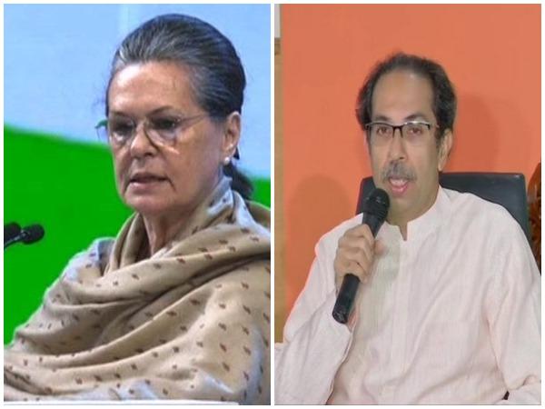 Congress interim President Sonia Gandhi and Shiv Sena chief Uddhav Thackeray (File photo)