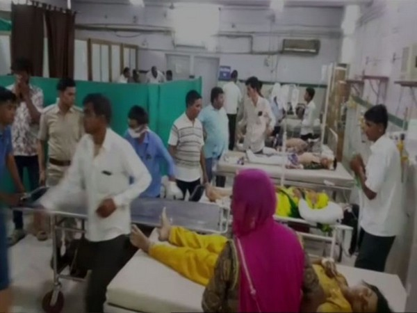 Visuals of hospital where injured in the accident have been admitted in Jodhpur, Rajasthan.