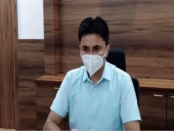 Jodhpur District Collector Indrajeet Singh speaking to the reporter on Friday. (Photo/ANI)