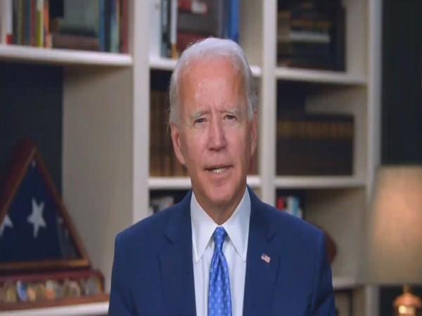 US Democratic Presidential candidate Joe Biden