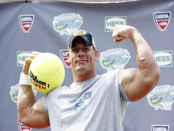 Wrestler John Cena poses for photographers during 'Arthur Ashe Kid's Day'