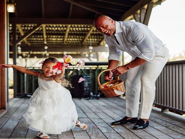 Dwayne Johnson with his daughter Jasmine Lia, Picture courtesy: Instagram