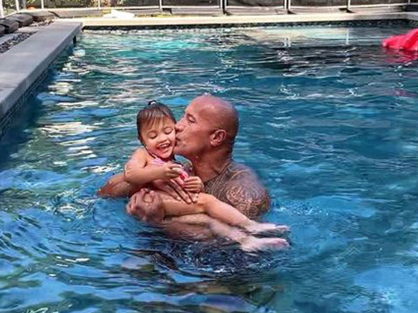 Dwayne Johnson with daughter (Image Courtesy:Instagram)