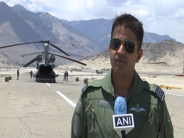 A squadron leader of the IAF at a forward airbase near India-China border talking to ANI on Saturday