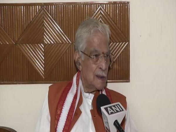 Senior BJP leader Murli Manohar Joshi speaks to ANI in New Delhi on Sunday. [Photo/ANI]
