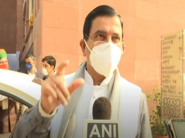 Union Minister Pralhad Joshi speaking to ANI in New Delhi on Monday. [Photo/ANI]